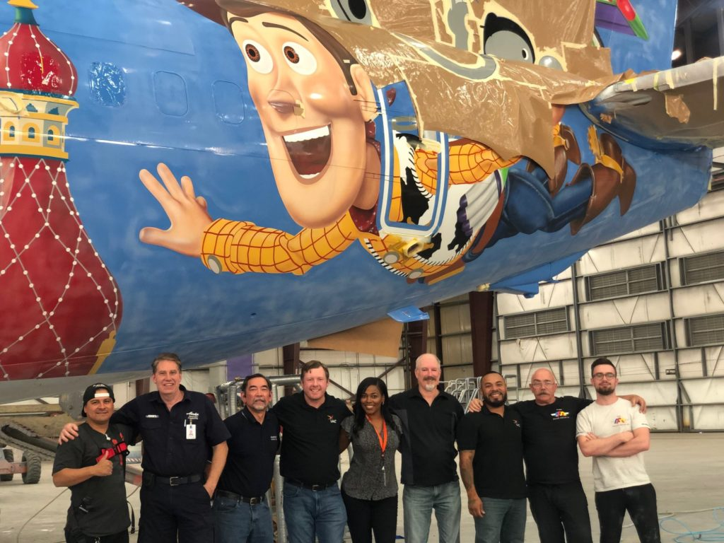 Alaska Airlines' Newest Painted Pixar-Themed Aircraft 1